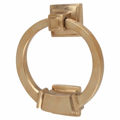 Louis Fraser Ringed Square Door Knocker - 98mm - Light Bronze