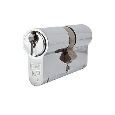 Eurospec MP10 - Euro Double Cylinder - 35 + 35mm - Polished Chrome  - Keyed to Differ