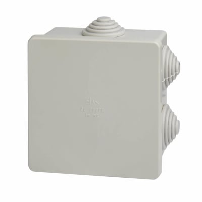 Adaptable Box with Knockouts - 40mm - White