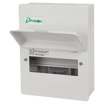 Danson 8 Module Metal Consumer Unit - Empty Enclosure