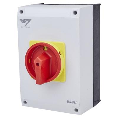 80A 4 Pole Rotary Isolator Waterproof - IP65