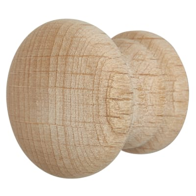 Touchpoint Wooden Cabinet Knob - 45mm - Beech - Pack 5
