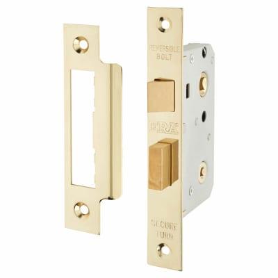 ERA Bathroom Lock - 76mm Case - 56mm Backset - Brass Effect