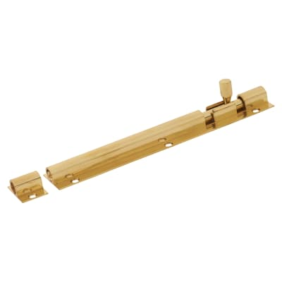 Altro Straight Barrel Bolt - 150 x 25mm - Polished Brass