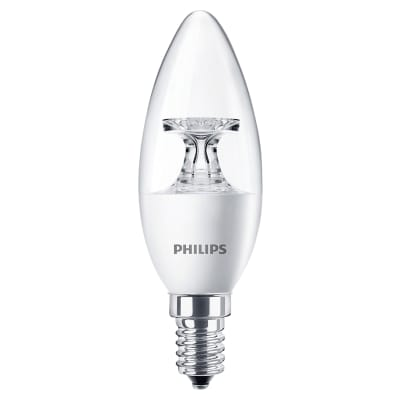 Philips Corepro 5.5W LED E14 Candle Non-Dimmable Clear Lamp 2700K - Warm White