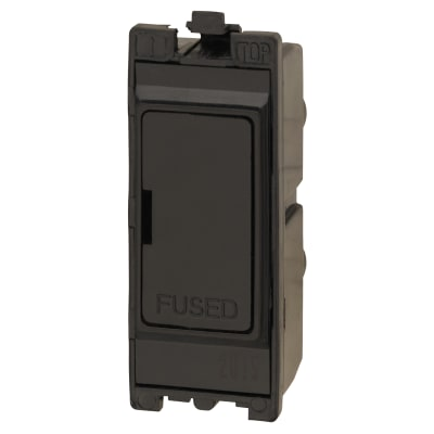 Contactum 13A Fused Connection Unit - Black