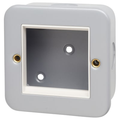 Hamilton Metalclad Single Plate x2 EuroFix Aperture 50x50mm with Back box