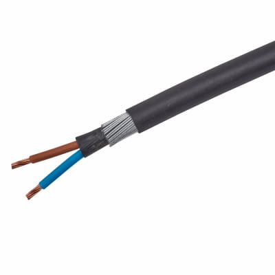 6942X 2 Core SWA Cable - 6mm² x 10m - Black