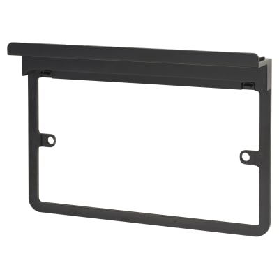 Schneider Lisse 2 Gang Surround with Shelf - Black