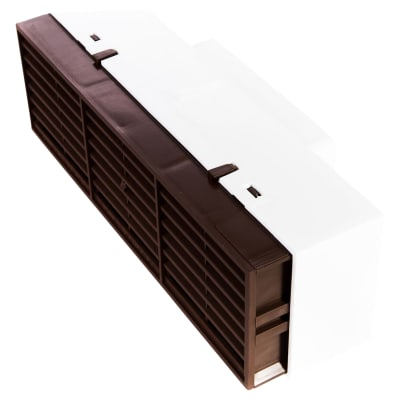 Rytons Multifix Air Brick with Adaptor for 110mm x 54mm Ducting - Brown