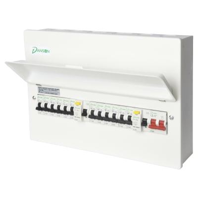 Danson 100A High Integrity 18 Module Metal Consumer Unit Split Load - 2 x 63A 30mA RCD
