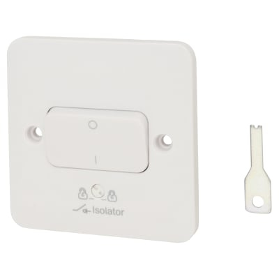 Schneider Lisse 10A 1 Gang 3 Pole Fan Isolator Switch - White