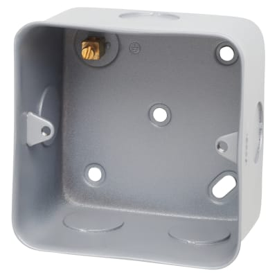 Hamilton Metalclad 50mm 1 Gang Box With Terminal