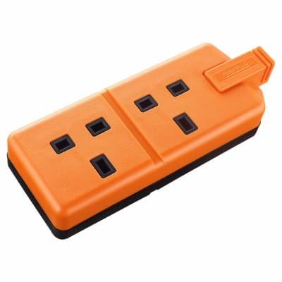 BG 13A 2 Socket Heavy Duty Trailing Socket - Orange