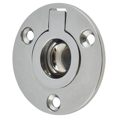 Altro Round Flush Ring Pull - 45mm - Polished Chrome