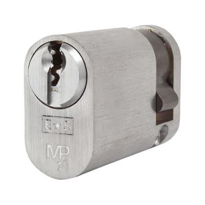 Eurospec Oval Single Cylinder - 10 Pin - 35 + 10mm - Satin Chrome - Master Keyed