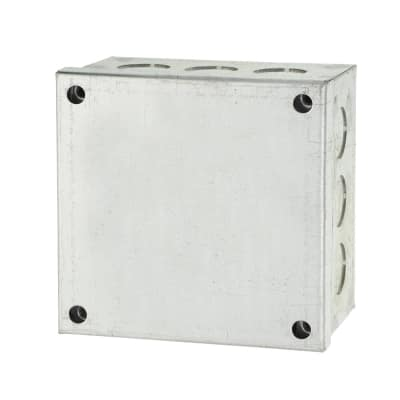 Adaptable Back Box with Knockouts - 56mm - Galvanised