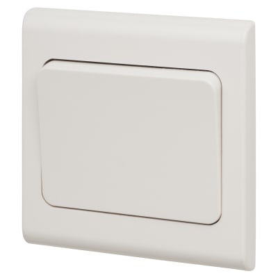 Deta 10A 1 Gang 2 Way Wide Rocker Light Switch - White