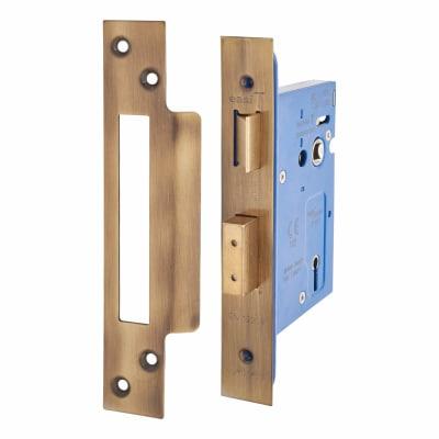 Hampstead Architectural 3 Lever Sashlock - 78mm Case - 57mm Backset - Florentine Bronze