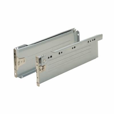 Klug Innobox Metal Drawer Runner Pack - (H) 54mm x (D) 450mm - Silver Grey
