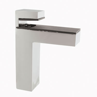 Altro Cube Shelf Support Bracket - 8-50mm Shelf Thickness - Polished Chrome