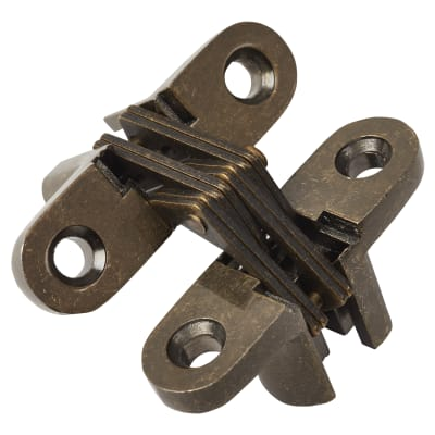 Altro Concealed Hinge - 45 x 13mm - Antique Brass - Pair