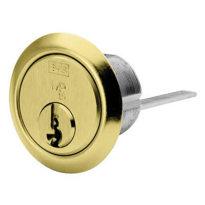 Eurospec Universal Rim Cylinder - 15 Pin - Polished Brass - Keyed Alike