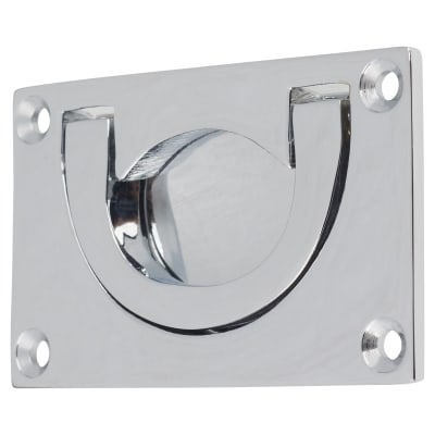 Altro Flush Chest Drawer Pull - 45 x 75mm - Polished Chrome