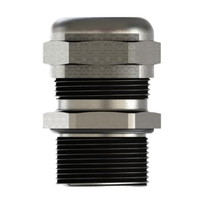 Cable gland s.steel 304L+nut M25