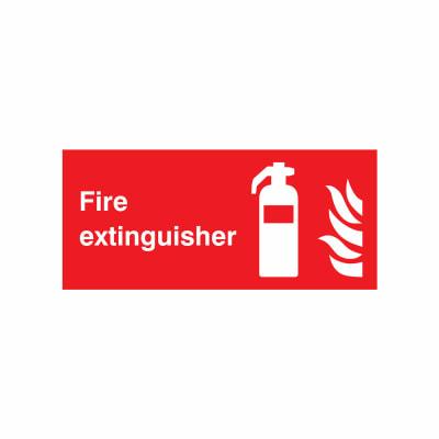 Fire Extinguisher - 100 x 200mm - Rigid Plastic