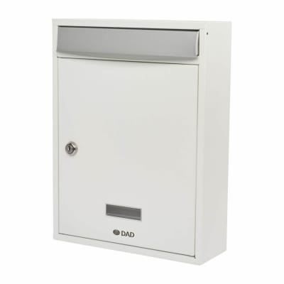 DAD Bologne Mailbox - 340 x 260 x 85mm - White