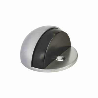Hampstead Oval Floor Door Stop - 45mm - Satin Chrome
