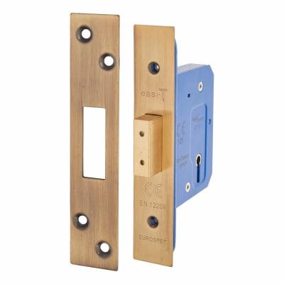 Hampstead Architectural 3 Lever Deadlock - 65mm Case - 44mm Backset - Florentine Bronze