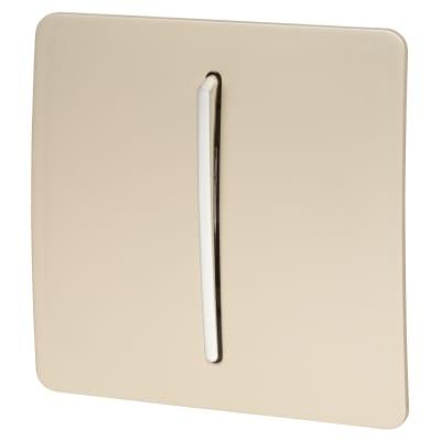 Trendi 1 Gang 3 Way Intermediate Switch - Gold