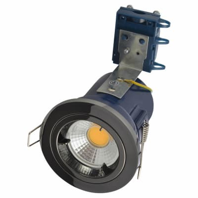 Forum Yate Fixed LED Fire Rated Downlight - Black Chrome