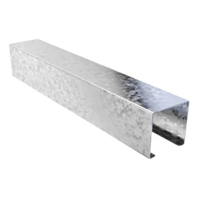 Trench Lighting Trunking - 3000mm - Pre-Galvanised