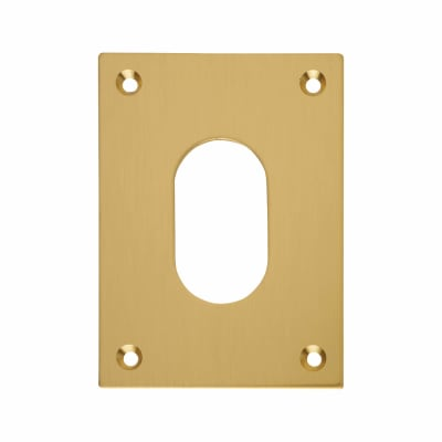 Jumbo Escutcheon - 65.5 x 47.6mm - Oval - Polished Brass