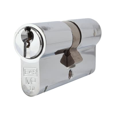 Eurospec Euro Double Cylinder - 10 Pin - 35 + 35mm - Polished Chrome - Master Keyed