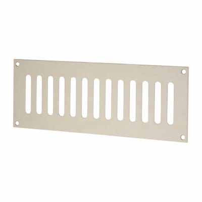 Plain Slotted Vent - 242 x 89mm - 4370mm2 Free Air Flow - Satin Stainless Steel
