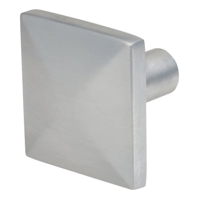 Touchpoint Pyramid Style Cabinet Knob - Satin Chrome