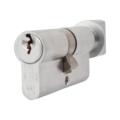 Eurospec 5 Pin 60mm Euro Thumbturn Cylinder - 30mm [Turn] + 30mm - Satin Chrome - Keyed Alike