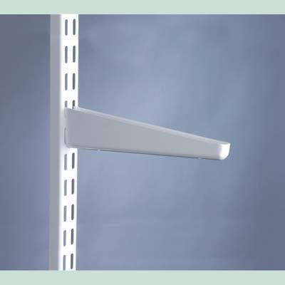 elfa Twin Slot Shelf Bracket for Solid Shelving - 220mm - White