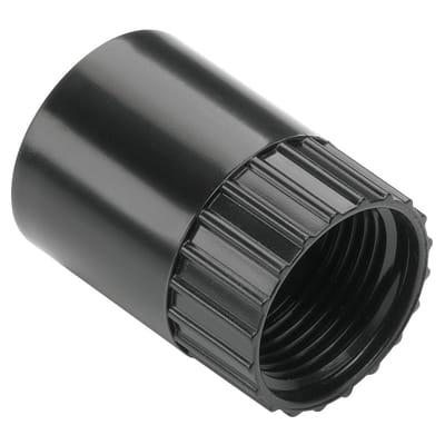 MK Female Adaptor 25mm - Black - Pack 10