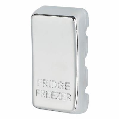 BG Printed Grid Switch Rocker - Freezer - Polished Chrome