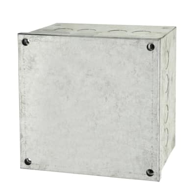 Adaptable Back Box with Knockouts - 102mm - Galvanised