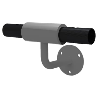 FibreRail Bracket - Wall Mount Tee - Grey