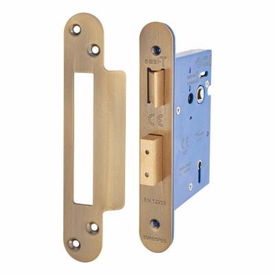 Hampstead Architectural 5 Lever Sashlock - 78mm Case - 57mm Backset - Radius - Florentine Bronze