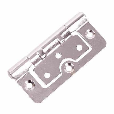 Hurlinge Hinge - 75 x 51 x 1.5mm - Chrome - Pair