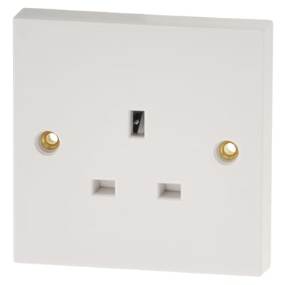 BG 13A 1 Gang Unswitched Socket - White