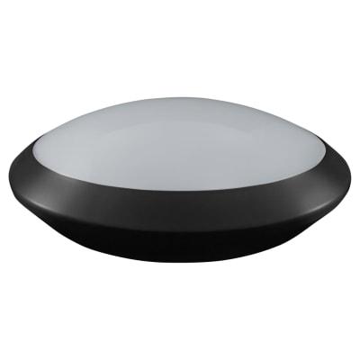 Crompton Melana 15W IP66 LED Round Bulkhead with Microwave Sensor - Black - 4000K